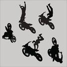 Motocross,Motorcycle,Stunt,Jumping,Cycling,Danger,Stunt Person,Sport,Exhilaration,Letter X,Wheel,Men,Showing Off,Speed,Teenager,Aerial View,Mid-Air,High Up,Male,Action,Flying,Youth Culture,Illustrations And Vector Art,Lifestyle,Adolescence,Sports And Fitness,Teens,Extreme Sports,Vector Icons