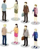 Isometric,People,Office Building,Office Interior,Vector,Handshake,Business,One Person,Greeting,Symbol,Computer Icon