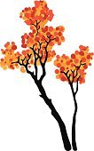 Autumn,Falling,Decoration,Nature,No People,Abstract,September,October,Red,Forest,Branch,Leaf,Japan,Tree,Vector,Ilustration,Yellow,Image