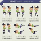 People,Activity,Motion,Equipment,Lifestyles,Sport,Composition,Indoors,Muscular Build,Body Building,Bicycle,Exercising,Adult,Exercise Machine,Illustration,Cycle,Men,Women,Vector,Infographic