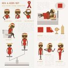 Condom,AIDS,Social Issues,Infographic,Newspaper,Sensuality,transmitted,Symbol,Data,Red,Illness,Alertness,Vector,Backgrounds,Blue,Charity and Relief Work,cause,Education