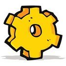 Cheerful,Doodle,Bizarre,Clip Art,Drawing - Activity,Ilustration,Sign,Symbol,Cute,Gear