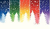 Christmas Tree,Christmas,Snow,Snowing,Winter,Pine Tree,Forest,Backgrounds,Rainbow,Holiday,Blizzard,Vacations,Multi Colored,Travel Destinations,Snowflake,Wallpaper Pattern,Cold - Termperature