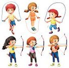 Little Boys,Archery,Playful,Collection,Skipping,Rope,Vector,Hobbies,Small,Women,Image,Computer Graphic,Backgrounds,vectorized,Men,People