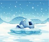 Igloo,Blue,Frozen,bluish,Weather,Vector,Window,Cold - Termperature,Snowflake,Snowing,Computer Graphic,Image,Shade,Circle,Melting,Ice,Snow