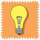 Light Bulb,Inspiration,Ideas,Lighting Equipment,Ilustration,Electric Lamp,No People,Shade,Single Object,Illustrations And Vector Art,Projection,Electricity,Vector,Luminosity,Glass - Material,Clip Art,Objects/Equipment,Bright,Power,Color Image,Illuminated,Invention