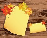 Note,Leaf,Autumn,Maple Tree,Backgrounds,Illustration,No People,Vector,Note - Message
