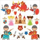 Knight,Princess,Dragon,Medieval Knight,Medieval Castle,red dragon,Castle