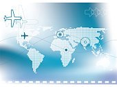 Airplane,Map,Globe - Man Made Object,World Map,Flying,Earth,Travel,Direction,Commercial Airplane,Pixelated,Backgrounds,Finance,Business,Arrow Symbol,Number,Striped,Wave,Africa,Europe,USA,Blue,Vacations,Sea,Island,Asia,Color Gradient,The Americas,Hill,Travel Locations,Concepts And Ideas,Illustrations And Vector Art