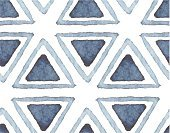 Navy Blue,Pattern,Watercolor Painting,Textured,Painted Image,Ornate,Drawing - Activity,hand drawn,Ilustration,Drawing - Art Product,Abstract,Vector,Geometric Shape,Eternity,Seamless,Backgrounds,Blue,Isolated,Simplicity,Triangle,Wallpaper Pattern,Computer Graphic