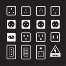 Outlet,Global Communications,Plug Adapter,Appliance,Amperage,toggle,Ilustration,Turning,wattage,Sign,Symbol,Vector,Electricity,Off,Diagram,Technology