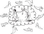 Shoe,Lace,Sign,Boot,Silhouette,Canvas,Sandal,Hiking,Sport,Black Color,Symbol,Couple,Flip-flop,White,Design,Beauty,Love,Vector,Religious Icon,Two Objects,Ilustration,Dress,Profile View,Image,Construction Industry,Computer Graphic,Clip Art,Pair,Pink Color,Leather,Painted Image,People,Textile,Vector Cartoons,Vector Icons,Feelings And Emotions,Illustrations And Vector Art,Concepts And Ideas,Casual Clothing,Modern