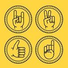 Computer Graphic,Creativity,Yellow,Cursor,Index Finger,Insignia,Infographic,Ilustration,Symbol,Moving Up,pacifist,Badge,Vector,Gesturing,Sign,Thumb,appreciate,Outline,Circle