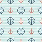 Seamless,Sparse,Pattern,Wallpaper Pattern,Shape,Style,Backgrounds,Anchor,Red,Nautical Vessel,Design Element,Old-fashioned,Blue,Vector,Circle,Decoration,Repetition,Simplicity,Adventure,Symmetry,Striped,Flat