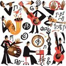 Classical Music,Classical Style,Blues,Jazz,Equipment,Classical Concert,Trumpet,Popular Music Concert,Musical Instrument,Pianist,Musical Band,Poster,Musician,Saxophone,Ilustration,Symbol,Toned Image,Creativity,Soul Music,Party - Social Event,Tuba,Brass Instrument,Collection,Brass Band,Doodle,Multi Colored,Art,Variation,Silhouette,Men,Group Of People,Live Event,Orchestra,Icon Set,Tenor,Sound,Individuality,Playing,Performance,People,Male,Singing,The Human Body,Event,Drummer,Computer Graphic,Vector,Music,Guitarist,Drawing - Art Product