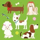 Poodle,Animal,Cartoon,Pets,Puppy,Vector,Tennis Ball,Dog Bone,Toy,Ilustration,Dachshund,Dog,Bull Terrier,Basset Hound,Canine