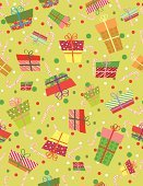 Backgrounds,Christmas,Seamless,Ilustration,Wallpaper Pattern,Vector,Candy Cane,Gift,Candy,Holiday