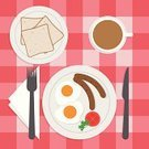 Knife,Folk Music,Table Knife,Plate,Flat,Computer Graphic,Pork,Fried Egg,Roasted,Single Object,Morning,Ideas,Meat,Sausage,Inspiration,Ham,Crockery,Backgrounds,Bread,Breakfast,Cartoon,USA,Vector,Set,Concepts,Table,American Culture,Fat,Cup,Napkin,Hungry,Digitally Generated Image,Restaurant,Ilustration,Sparse,Close-up,Coffee Crop,Coffee - Drink,Meal,Fried,Sandwich,Design,Pattern,Gourmet,Cooking,Refreshment,Eggs,Food,Serving Size,Slice,Cooked