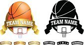Basketball - Sport,Basketball,Computer Graphic,Vector,Art,Symbol,High Section,Shield,Retro Revival,Ornate,Playing,Gold Colored,Gold,Ball,Insignia,Sport,Team,Computer Icon,Silhouette,Teamwork,Creativity,Play,Basket,Sign,Old-fashioned,Badge,Backgrounds,Ilustration,Label,Design