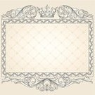 Engraved Image,Scroll Shape,Frame,Antique,Backgrounds,Pastel Colored,Victorian Style,Retro Revival,Decoration,Crown,Rectangle,Flourish,Sepia Toned,Abstract,Ornate,Design,Swirl,Elegance,Vignette,Curled Up,Vector,Copy Space,filigree,Majestic,Clip Art,Luxury