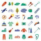 Camping,Vector,Sign,Mountain,People,Color Image,Travel,Adventure,Leisure Activity,Stick - Plant Part,Recreational Pursuit,Hiking,Collection,Isolated,Tree,Activity,Fire - Natural Phenomenon,Mountain Climbing,Water,Knotted Wood,Set,Ilustration,Internet,Harness,Outdoors,Forest,Ice,Moving Up,Work Tool,Compass,Climbing,Rock - Object,Carabiner,Work Helmet,Symbol,Park - Man Made Space,Tent,Exploration,Food,Computer Graphic,Speleology,Equipment,Strength,Lantern,Rope