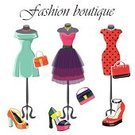 Clothing,Luxury,Personal Accessory,Dress,Bag,Composition,Blue,Red,Textile,Tree,Purse,Mannequin,Satin,High Heels,Mini Skirt,Corset,Illustration,Celebration,Tulle Netting,Polka Dot,No People,Vector,Fashion,Magenta,Open Toe,artificial leather,Boutique