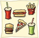 Pizza,Fast Food,Burger,French Fries,Take Out Food,Unhealthy Eating,Hot Dog,Food,Hamburger,Symbol,Fast Food French Fries,Drawing - Art Product,Drink,Soda,Clip Art,Icon Set,Pepperoni Pizza,Ilustration,Meal,Vector,Illustrations And Vector Art,Vector Icons,Junk Food/Fast Food,Food And Drink,Fat,No People,Cheeseburger,Snack
