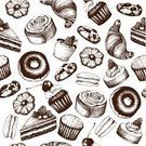 Old-fashioned,Ilustration,Food,Snack,Cookie,Backgrounds,Engraved Image,Bread,Cream,Pattern,Croissant,Cupcake,Store,Party - Social Event,Ice,Macaroon,Drawing - Activity,Cherry,Cheesecake,Pastry,Drawing - Art Product,Sweet Bun,Vector,Cup,Waffle,Ink,Menu,Seamless,Slice,Dessert,Flour,Cake,Chocolate,Pie,Sweet Food,Pencil Drawing,Collection,Muffin,Raspberry,Donut,Cafe,Lunch,Bun,Set,Bakery,Speed