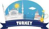Turkey - Middle East,Famous Place,Country - Geographic Area,Sea,Ancient,Straits,Sun,Gold,Hookah,Asia,Sky,Vector,Building Exterior,Town,Incense,Climate,Bridge - Man Made Structure,Seagull,House,Arranging,Blue,Cloud - Sky,Banner,Symbol,City,Land,Travel,Bird,Journey,Exploration,Tourism,Perfume