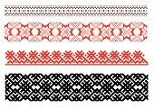 Lace - Textile,Ukrainian Culture,Embroidery,Frame,Textile,Pattern,Seamless,Ornate,Vector,Flower,Retro Revival,Cultures,Floral Pattern,Black Color,Old-fashioned,Red,Decoration,Ancient,Repetition,Abstract,odltimer,Plant,Vector Ornaments,Illustrations And Vector Art,Beautiful