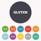 Allergy,Symbol,gluten,Sign,Bread,Gluten Free Food,Label,Food,Organic,Geometric Shape,Red,Blue,Yellow,Token,No,Vector,Multi Colored,template,Backgrounds,Circle,Application Software,Ilustration,Creativity,Badge,Computer Graphic,Shape