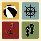Vector,Sun,Concepts,Ilustration,Creativity,Message,Decoration,Tropical Climate,Season,Holiday,Anchor,Icon Set,Summer,Ball,Sandal,Vacations,Travel,Wheel,Nature