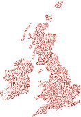 Map,UK,Scotland,Republic of Ireland,London - England,Northern Ireland,Vector,Computer Graphic,Town,City,Ilustration,England,Concepts,Single Word,Text,Calligraphy