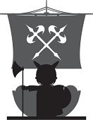 Black And White,Silhouette,norseman,History,Axe,Weapon,Transportation,Sailing Ship,Military Ship,Nautical Vessel,Scandinavian Culture,Scandinavian,Viking,Viking Ship,Ship,Sail,norse,Vector,Armed Forces,Isolated,Ilustration,Warship