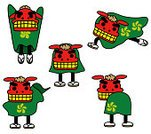 Chinese Lion Costume,Lion - Feline,Good Luck Charm,Mask,キャラクター,New Year's Day,Cultures