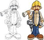 Construction Worker,Carpenter,Construction Industry,Cartoon,Manual Worker,Repairman,Manufacturing Occupation,Tool Belt,Power Tool,Vector,Senior Men,Work Tool,Work Boot,Construction Equipment,Hardhat,Caricature,Blueprint,Hammer,Drill,Foreman,Manager,Steel Toe,Mustache,Black And White,Home Addition,Ilustration,Hand Tool,Tape Measure,Eyebrow,Sand Paper,Handlebar Mustache,Line Art,superintendent,Equipment,Jeans,Grayscale,Construction Man,Illustrations And Vector Art,Vector Cartoons,Industry,Drill Attachment,Architecture And Buildings,Office Buildings,Crewed,Claw Hammer,Instrument of Measurement,Construction