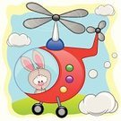 Cartoon,Helicopter,Baby,Young Animal,Sunlight,Fun,Small,Part Of,Mode of Transport,Land Vehicle,Sign,Travel,freeride,Cloudscape,Journey,Happiness,Sport,Cheerful,Greeting,Transportation,Extreme Sports,Characters,Cute,Design,Greeting Card,Cloud - Sky,Paintings,Sky,Ski,Ilustration,Vector,Rabbit - Animal,Animal Themes,Animal,Tourist,Forest,Pilot,Fly,Nature,Air,Mammal,Piloting,Symbol,Art,Merchandise,Backgrounds