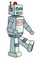 Robot,Metal,Science,Technology,Vector,Ilustration,Futuristic,Cyborg,Walking,Retro Revival,Cartoon,Imagination