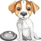 Young Animal,Black Color,Animal Food Bowl,Food,Caucasian Ethnicity,Animal,Eat,Pets,Spotted,Serious,Ilustration,Cheerful,Humor,Purebred Dog,Intelligence,Desire,Terrier,Brown,Red,Friendship,Strength,Vector,Fun,Short Hair,Small,Jack Russell Terrier,Cute,Puppy,Dog,Sketch