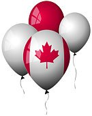Canada,Balloon,Canadian Flag,Flag,White,Celebration,Helium Balloon,Party - Social Event,Red,Window,Holidays And Celebrations,Lifestyle,Shiny,Concepts And Ideas
