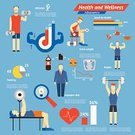 Infographic,Muscular Build,The Human Body,Sport,Exercising,Ilustration,Vector,Healthy Lifestyle,Graph,Heart Shape,Part Of,Data,Action,Chart,Text,Healthcare And Medicine,Design,Design Element,Men,Sports Training,template,Training Class,Information Medium