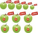 Set,Collection,Label,Number,Interest Rate,Apple - Fruit,Vector,Sale,Flyer