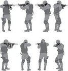 Weapon,Army Soldier,Army,Military,Armed Forces,Body Armor,Camouflage Clothing,Rear View,Isolated On White,Carrying,Holding,Adult,Standing,Military Uniform,Male,Kneepad,Rifle,Side View,Uniform Cap,Machine Gun,Vector,Gun,Vertical,Uniform,Silhouette,White Background,Protective Workwear,Shape,Clip Art,Computer Graphic,Full Length,Ilustration,Front View,Cut Out,Digitally Generated Image,Confidence,Men