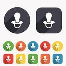 Pacifier,Symbol,Computer Graphic,Badge,Vector,Ilustration,Application Software,Backgrounds,template,Circle,Creativity,Geometric Shape,Token,Child,Yellow,Multi Colored,Red,Sleeping,soother,Label,Sign,Small,Shape
