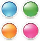 Badge,Shiny,Pink Color,Blue,Green Color,Orange Color,Color Gradient,Design Element,Round Button,Circle,Interface Icons,isolated object