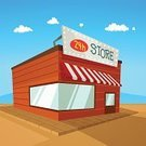 Building Exterior,Retail,Sky,Lighting Equipment,Sign,Road,Cartoon,Vector,Ilustration,Business,Desert,Design Element,1940-1980 Retro-Styled Imagery,Open Sign,Arranging,Mountain,Architecture,Table,Design,Shade,Backgrounds,Single Object,Market,Store,Outdoors,Trading,Isolated,Buying,Sale,24-7,Art Product,Eating,Facade,Merchandise,Landscaped,Style,Awning,Computer Graphic,Concepts,Service,Blackboard