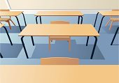 Classroom,Education,Table,Campus,Chair,Inside Of,Furniture,Domestic Room,Wood - Material,Indoors,Ilustration,Examination Table,vectored,Writing Chair,Vector Backgrounds,Architectural Detail,Architecture And Buildings,Illustrations And Vector Art