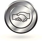 Handshake,Partnership,Chrome,Symbol,Business,Circle,Agreement,Vector,Human Hand,Computer Icon,Teamwork,Merger,Silver - Metal,Metallic,Meeting,Shiny,Silver Colored,Set,Metal,Curve,Global Business,Business Relationship,Hole,Ilustration,White,template,White Background,Grid