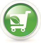 Green Color,Shopping Cart,Buy,Leaf,Store,Vector,Circle,Buying,Campaign Button,Environmental Conservation,Environment,Badge,Interface Icons,Design Element