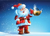Teapot,Gift,New Year's Eve,Year,Thumbs Up,Candy,hot tea,Snowdrift,Snow,Greeting,Single Object,Christmas,Santa Claus,christmas night,Backgrounds,Space,Multi Colored,Winter,Celebration